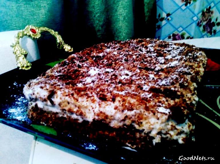 Торт с банановой прослойкой рецепт с фото